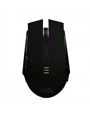 MOUSE MARS GAMING MM116 OPTICO 3200DPI 6 BOTONES GAMING CABLE 2 METROS LED 7 COL