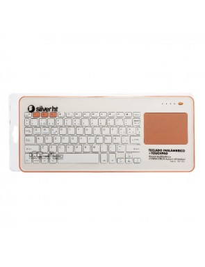 TECLADO SILVER  INLAMBRICO BT 943140 WHITE + PEACH