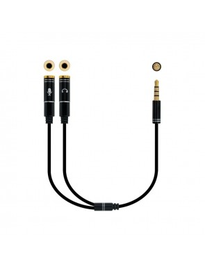 CABLE ADAP.AUDIO JACK 3.5 4PIN-2XJACK3.5 3PIN 30CM