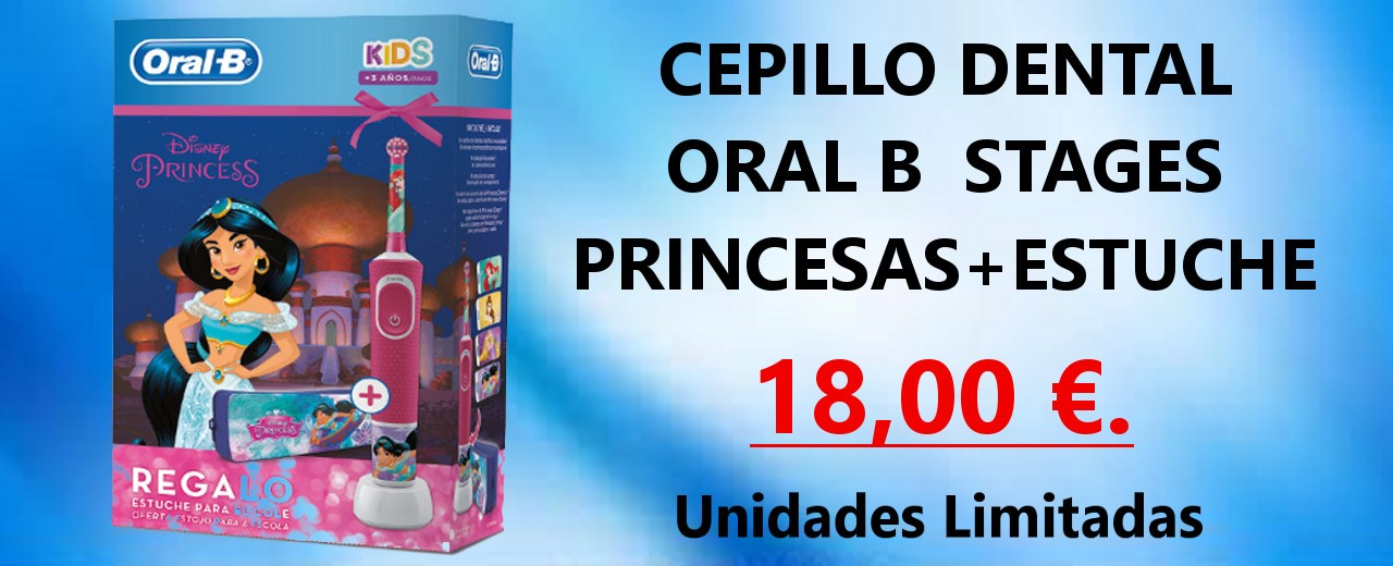 Cepillo Dental y estuche Oral-B Stages Princesas